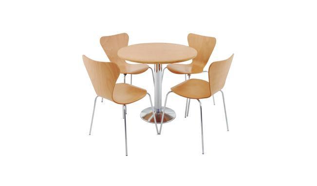 Conjunto de Mesa Redonda com 4 Cadeiras Estrutura em Aço